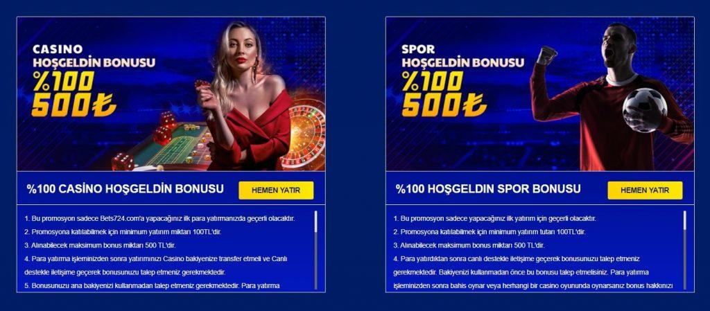 bets724 bonus kampanyası